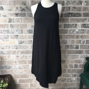 LILLA P Anthropologie XS Black Jersey Dress